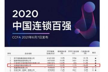 中国连锁百强名单销售实现双位数增长永辉位列超市业态第一